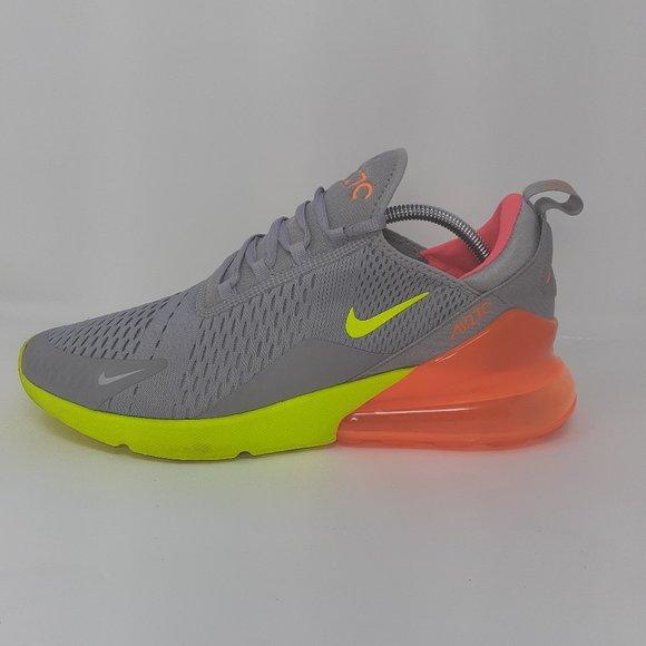 Nike Air Max 27 Grey Volt Orange Mens
